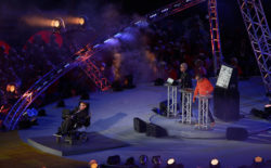 Watch Orbital duet with Stephen Hawking at last night's Paralympics Opening Ceremony