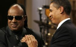 Stevie Wonder plays to 200 people at poorly promoted Obama rally