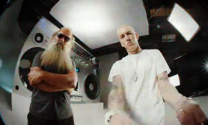 Eminem drops bizarre video for 'Berzerk' with cameos from Rick Rubin, Kendrick Lamar and more
