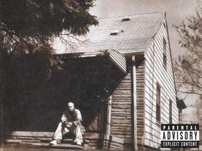 Image result for marshall mathers lp cover""