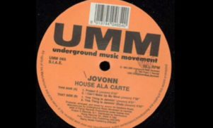 Jovonn's New Jersey house gem House Ala Carte reissued by Clone Classic Cuts