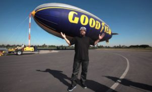 It was a good day: Ice Cube rides the Goodyear blimp for charity