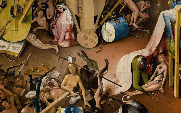 "Listen to the ""600-years-old butt song from hell"" in Hieronymus Bosch's The Garden of Earthly Delights"