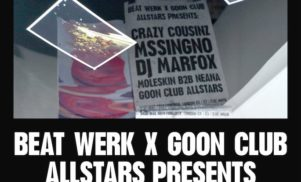 Goon Club Allstars plan bank holiday party — win tickets and a test pressing of Mssingno EP