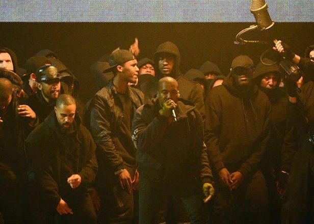 Watch Kanye West perform 'All Day' at the Brit Awards backed by Boy Better Know and blowtorches