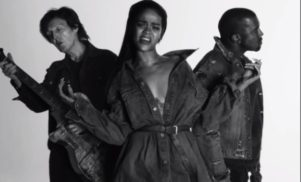 Watch Rihanna, Kanye West and Paul McCartney in the video for 'Fourfiveseconds'