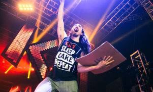 Screaming at shows has ruined Steve Aoki's vocal cords