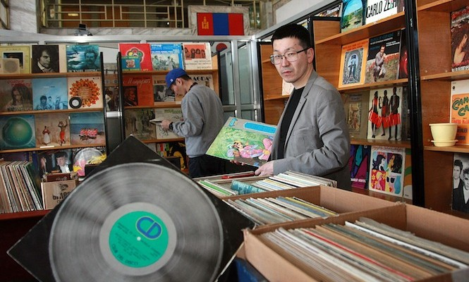 One of the world's most isolated vinyl record shops opens in Mongolia