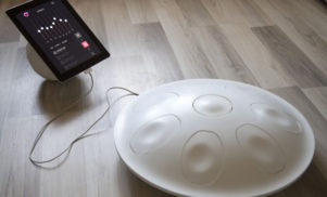 This MIDI controller can be played like a handpan percussion instrument