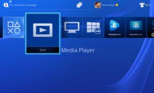 PlayStation 4 now has media playback capability
