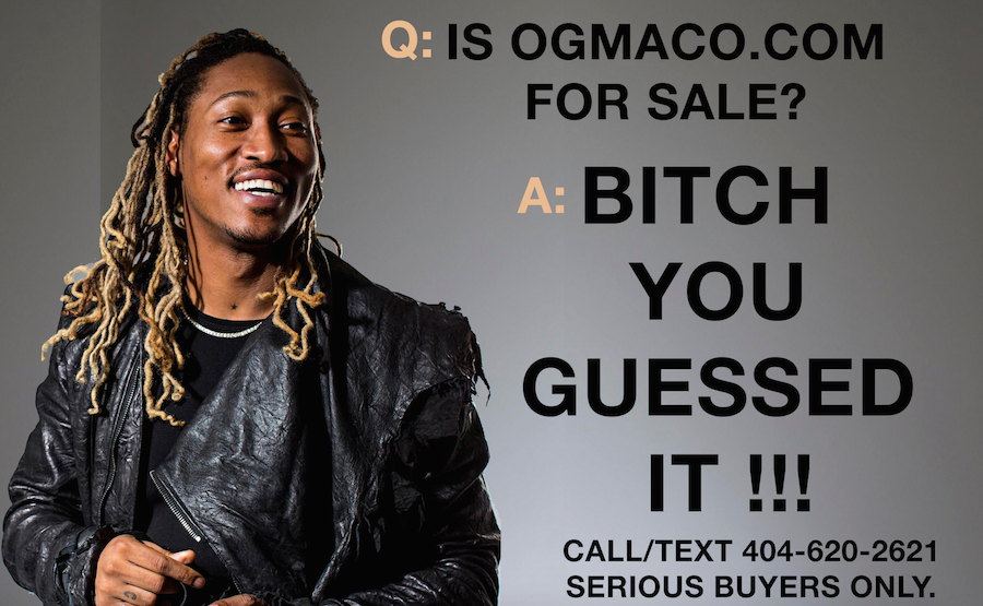 Angry Future fan buys OGMaco.com, puts it up for sale