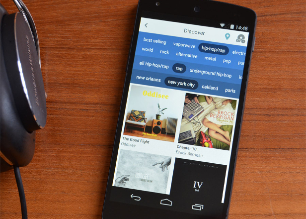 Bandcamp's app now lets you browse by genre and location