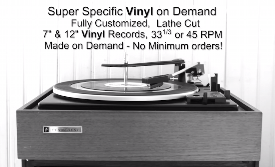 New service lets you cut anything you want to vinyl with no minimum