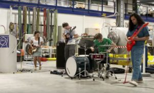Watch Deerhoof play at the Large Hadron Collider