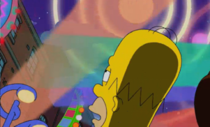 Homer got high and listened to Spacemen 3 on The Simpsons last night