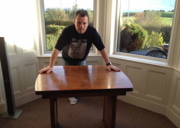Ian Curtis' kitchen table is up for auction again