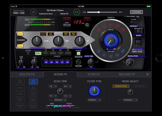 Pioneer's RMX-1000 effects unit arrives on iPad