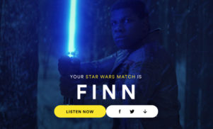 Spotify uses the force to reveal your Star Wars match