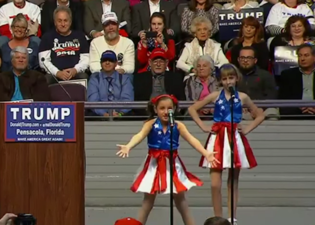 Donald Trump enlists child sirens Freedom Girls to herald coming apocalypse