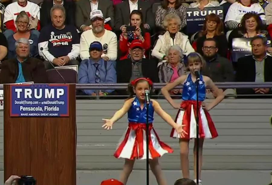 Donald Trump enlists child sirens Freedom Girls to herald coming apocalypse