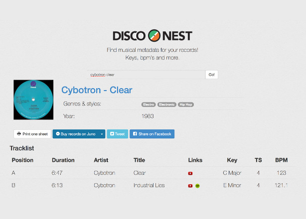 This site lets you check the BPM for all your records