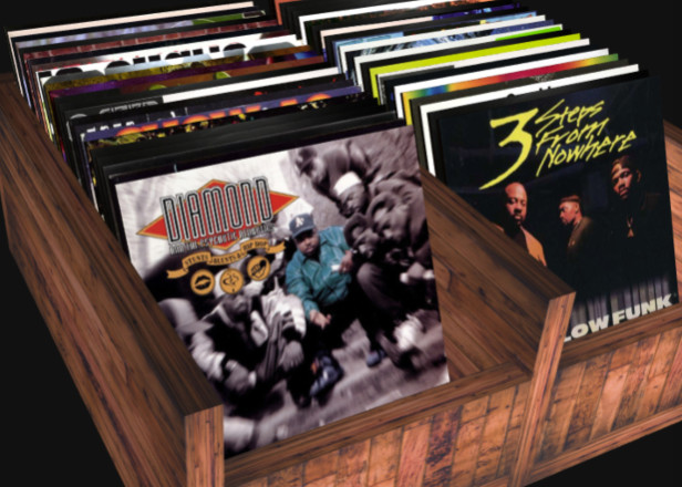 This site lets you dig thorough a virtual crate of hip-hop vinyl
