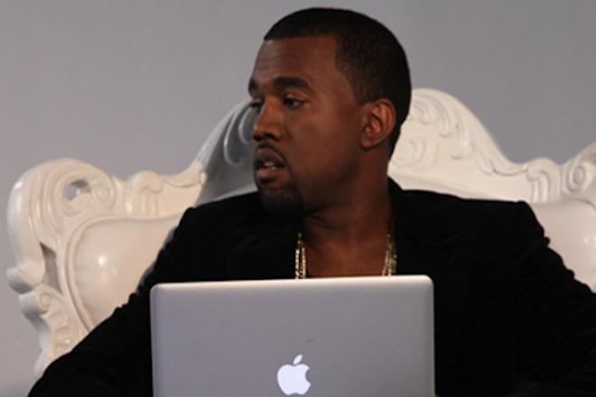 Kanye West has been caught visiting The Pirate Bay