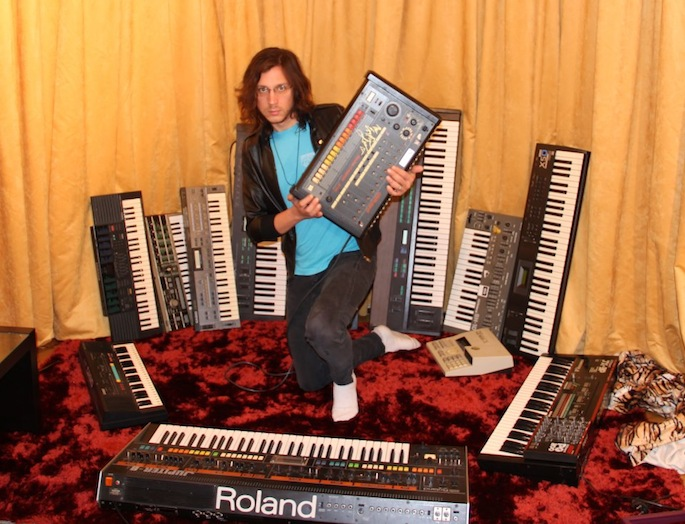 "Legowelt makes ""ritualistic neuroscience music"" as Occult Oriented Crime on Just A Clown on Crack"