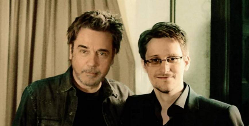 Edward Snowden and Jean-Michel Jarre have made a techno track