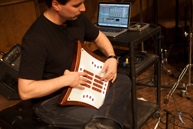 This MIDI controller is like a cross between a guitar and a harp