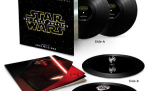 Star Wars: The Force Awakens vinyl soundtrack has spacecraft holograms etched into the record