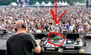 This DJ was caught watching Euro 2016 on his phone during a festival show