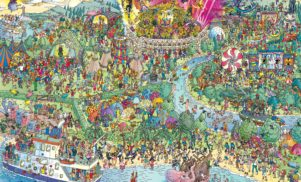 You'll never spot Daft Punk in this Where's Waldo-style festival map