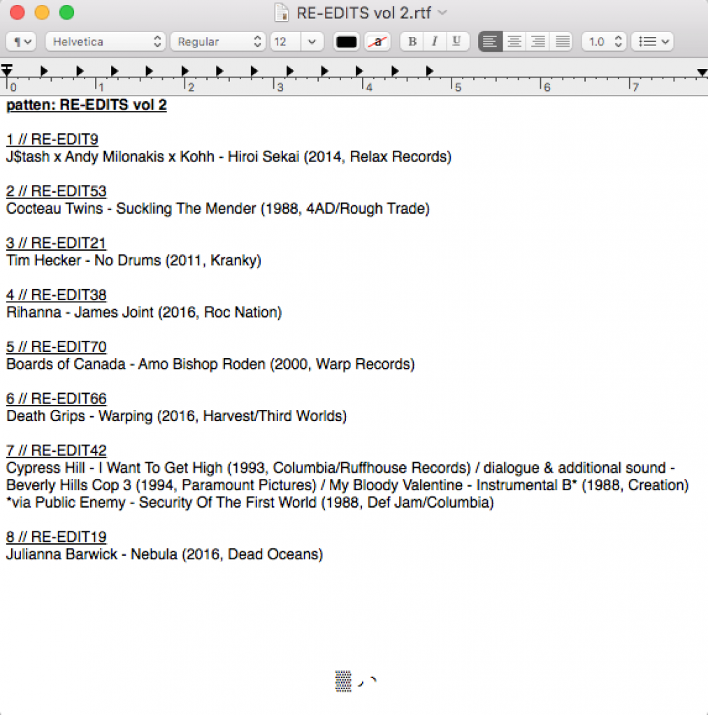 patten-re-edits-vol-2-tracklist