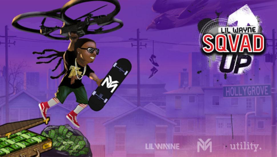 We played Lil Wayne's mobile skateboard game Sqvad Up