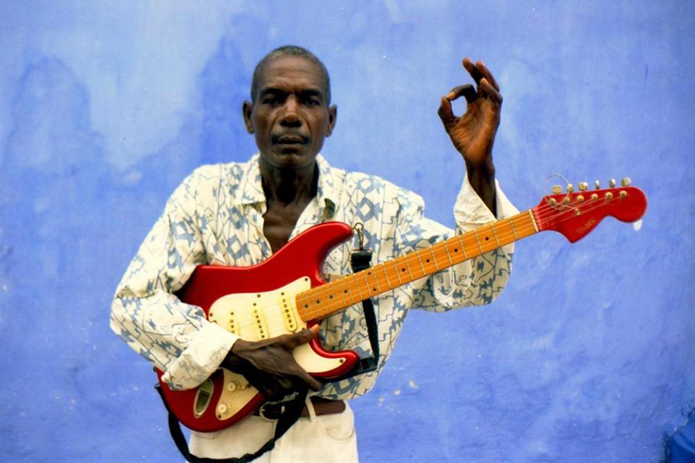 Diogenes Salgado, vocalist with psychedelic palenquera band Estrellas De Caribe, who sadly died in 2015.