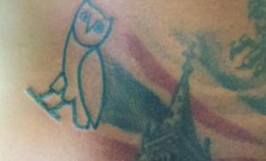 Skepta got an OVO owl tattoo