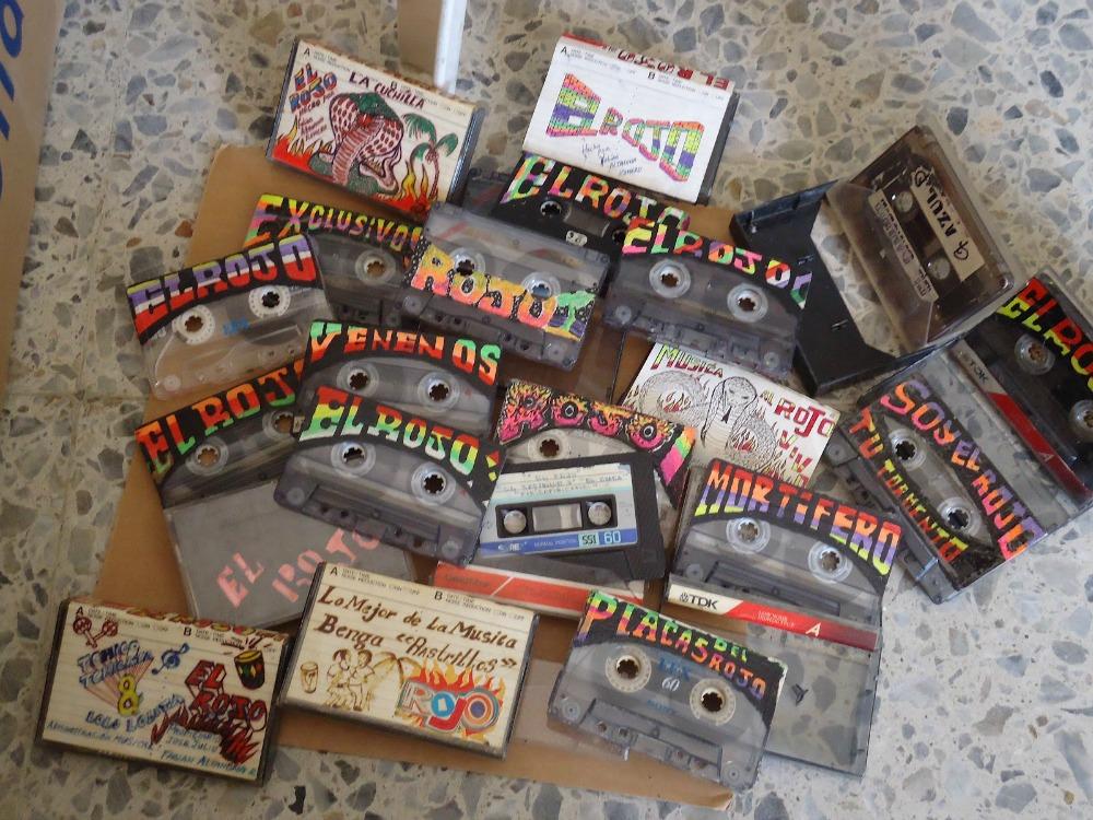 """Cassettes from El Rojo """"La Cobra de Barranquilla"""" sound system"""