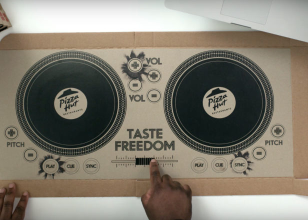 Pizza Hut has created the first playable pizza box DJ decks