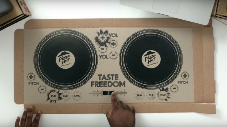 Pizza Hut has created the first playable pizza box DJ decks