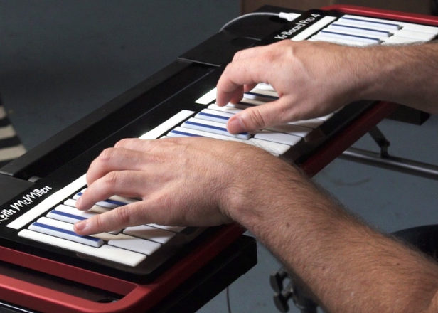 This expressive MIDI keyboard produces sounds like a