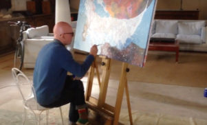 Watch Radiohead artist Stanley Donwood paint A Moon Shaped Pool artwork