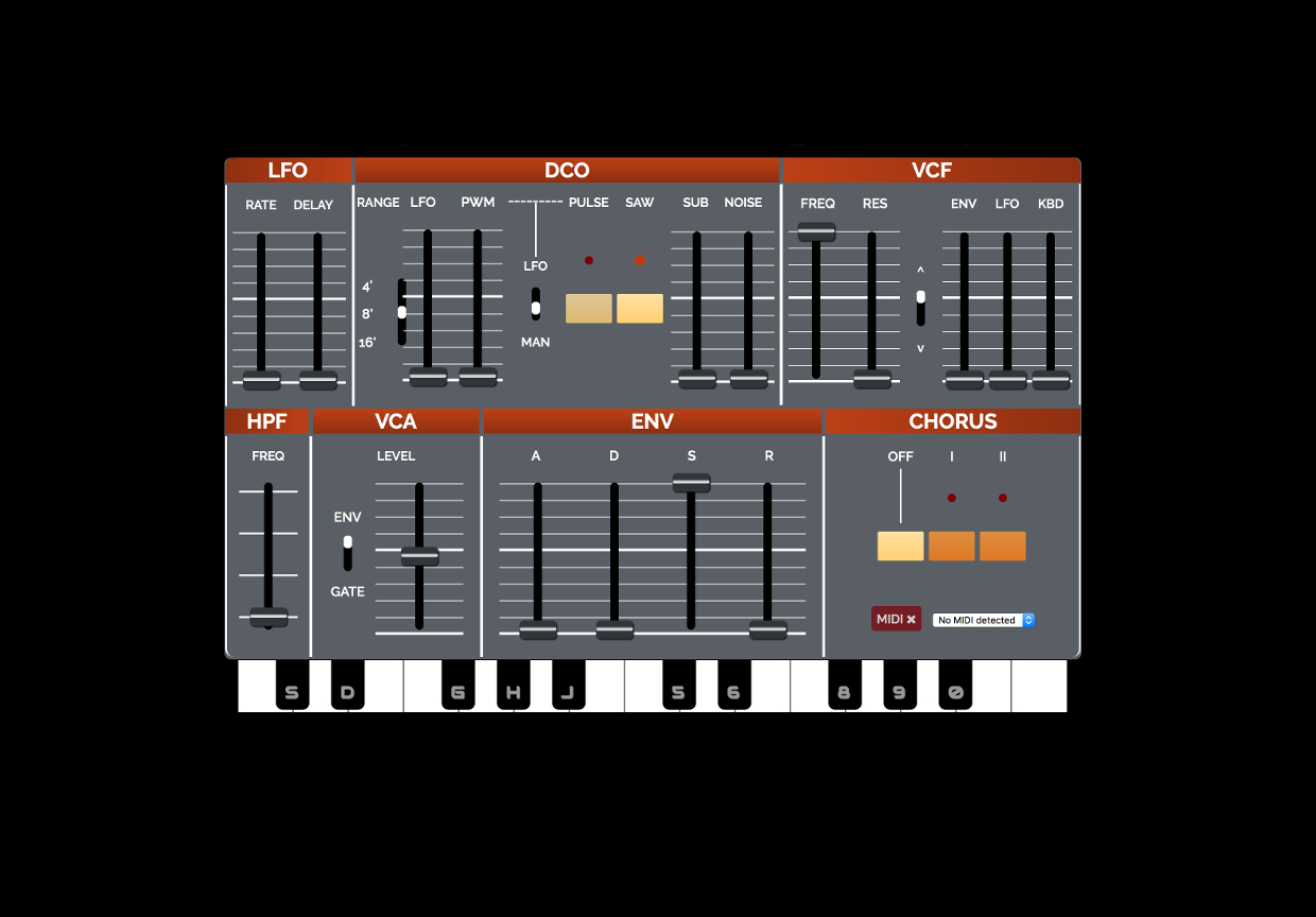 Play Roland's classic Juno-106 synth in your browser