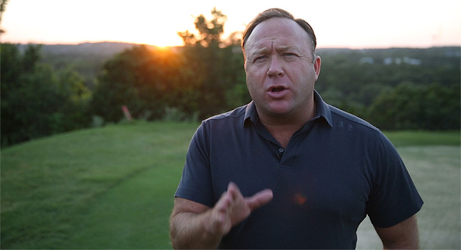 9/11 conspiracy Truther Alex Jones center of conspiracy that he's a techno producer