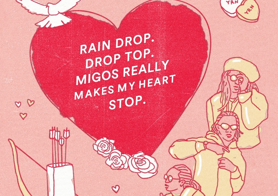 Here are some Migos Valentines cards for the 'Bad and Boujee' person in your life
