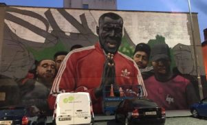 A giant Stormzy mural has gone up in Dublin