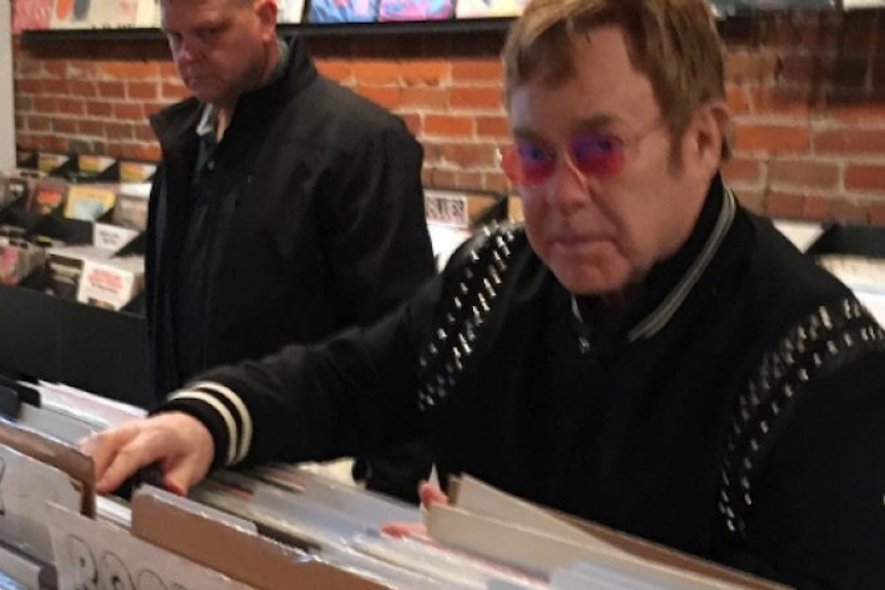 Elton John just spent a fortune on vinyl in Vancouver