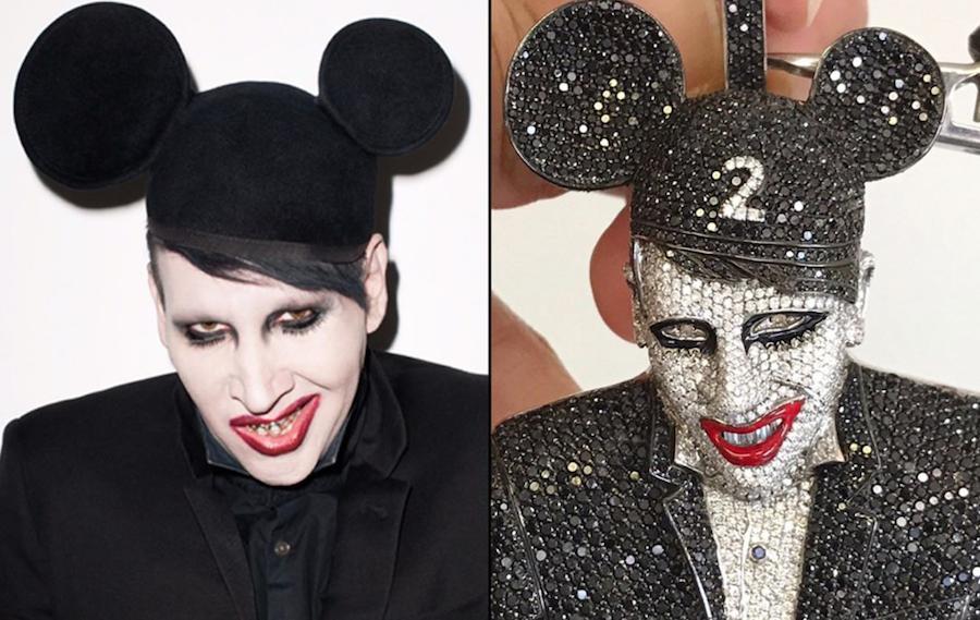 Lil Uzi Vert doubles down on Marilyn Manson fandom with 100k chain
