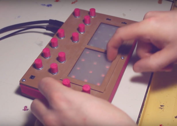 This DIY synth and drum machine was made with two Nintendo DS screens