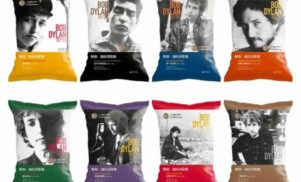 These Chinese potato chips bags are covered in Bob Dylan lyrics